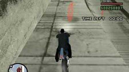 GTA San Andreas NRG-500 Challenge Disappearing Clock Trick Glitch