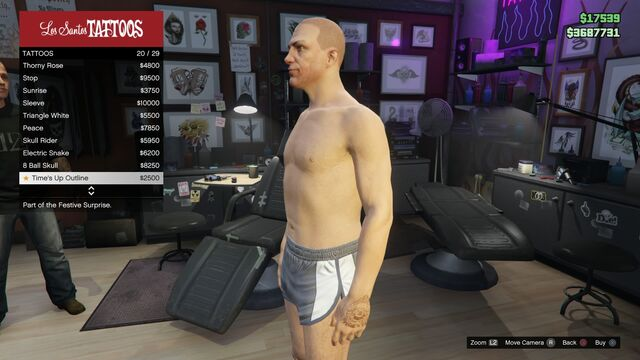 File:Tattoo GTAV Online Male Left Arm Time's Up outline.jpg