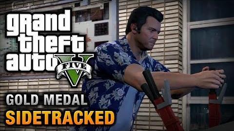 GTA 5 - Mission 78 - Sidetracked 100% Gold Medal Walkthrough