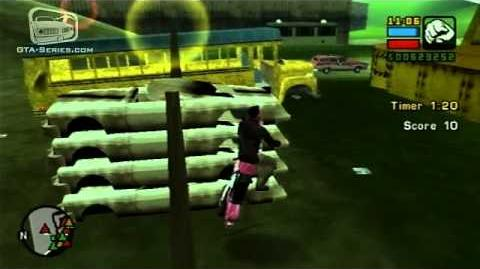 GTA Liberty City Stories - Walkthrough - Checkpoint Challenge - Scrapyard Challenge