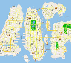 Map For Hospitals in GTA IV