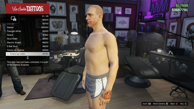File:Tattoo GTAV Online Male Left Arm Time's Up color.jpg