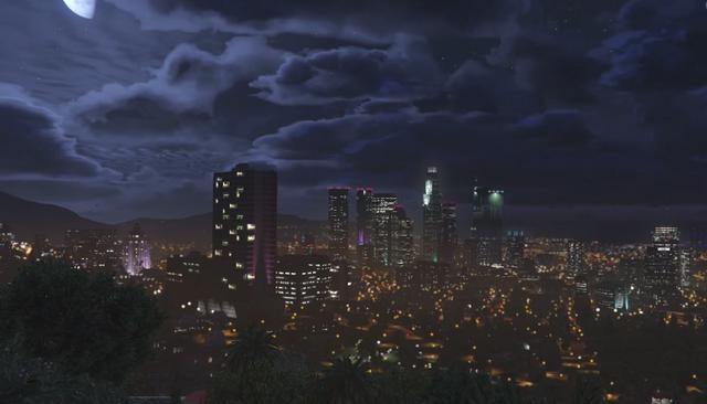 File:Los Santos at Night - GTAV.png