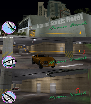 GTAVC HiddenPack 05 NW corner of underground car park in Marina Sands Hotel