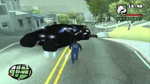 """GTA San Andreas - """"Tumbler"""" Batmobile"""