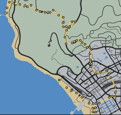 In the Pipeline GTAO Race Map