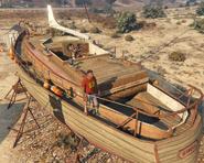 Desert Wooden Yacht GTAVpc Scale View