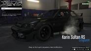 Vehicle Export Showroom GTAO Modification List