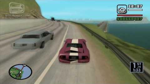 GTA San Andreas - Walkthrough - Street Race - Into the Country (HD)