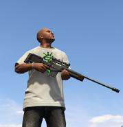 FranklinClinton-GTAV-WithSniperRifle