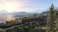 Official PC Screenshot GTAV Facebook Alamo Train