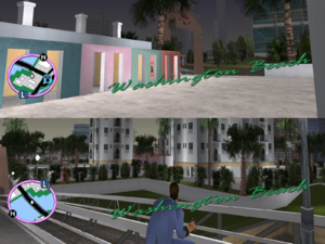 GTAVC HiddenPack 17 N in showers W of pink towers, S of StarView Heights construction site