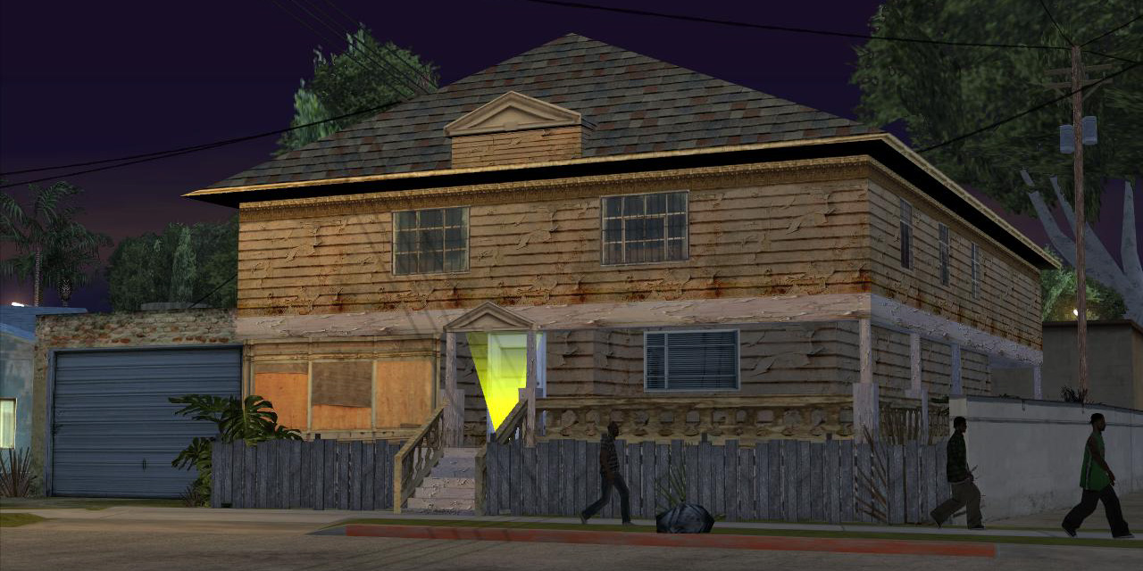 Image cj gtav transparent png gta wiki the grand theft auto wiki - Johnson House Johnson House As It Appears In Grand Theft Auto
