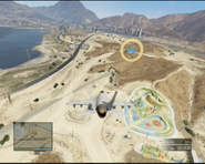 Lazer Quest GTAO Over Sandy Shores