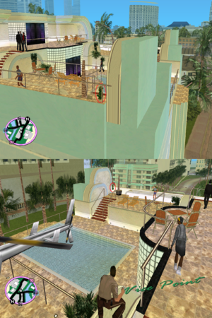 GTAVC HiddenPack 24 blue apt. roof pool