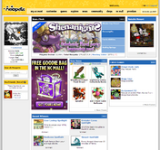 Neopets homepage screenie