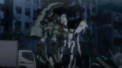Daryl destroys Ayase's mecha