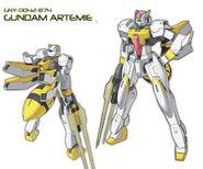 GNY-0042-874 Gundam Artemie Wallpaper