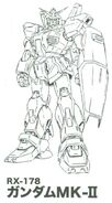 RX-178 Gundam Mk.-II Lineart