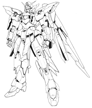 File:Gundam Fenice Rinascita Alba line art.png