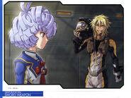 Fon Spaak and Gundam Meister 874.