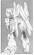 MSZ-006A1 - Zeta Plus A1 - Back View Lineart