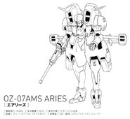 OZ-07AMS Aries Front View Lineart