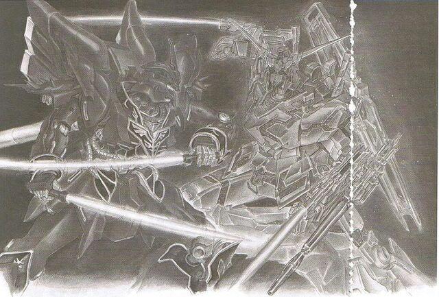 File:Gundam Unicorn Novel RX-0 Unicorn Gundam vs MSN-06S Sinanju.jpg