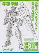 MG 00 Qan-T- Lineart Front View