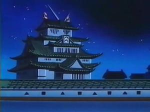 Gundam Castle at Night