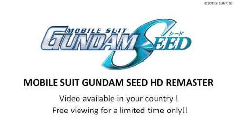 """MOBILE SUIT GUNDAM SEED HD REMASTER"" Video available now!"