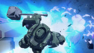 Gundam Gusion Attacks Isaribi