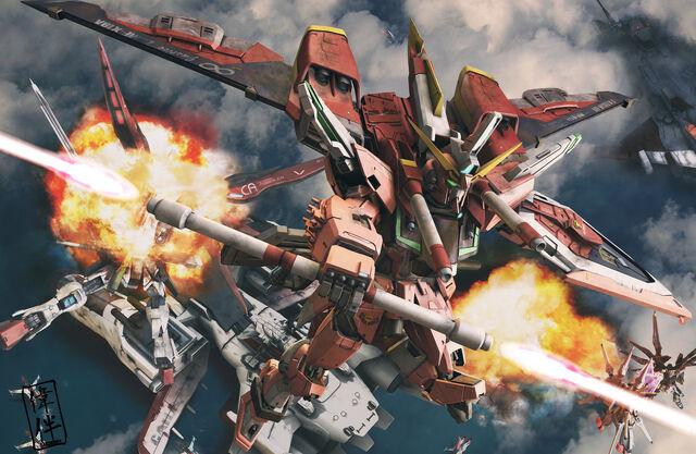 File:Infinite Justice Gundam Charge by sandrum.jpg