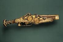 Double-barreled wheellock pistol