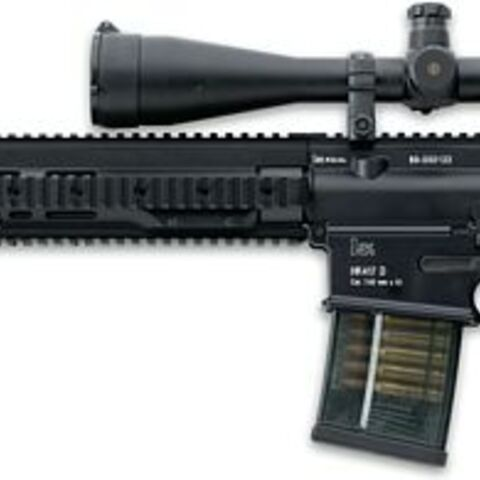 HK417 with 20-inch barrel and telescopic sight
