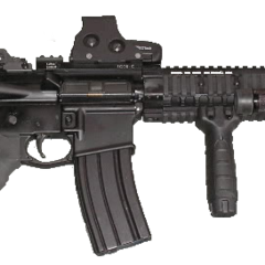 AR-15 with optic and rails