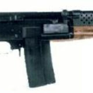Madsen LAR with underfolding stock.