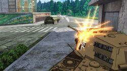 Tiger II engaging M26
