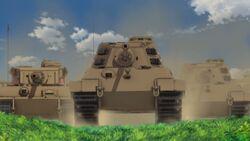 Tiger II rolling forward