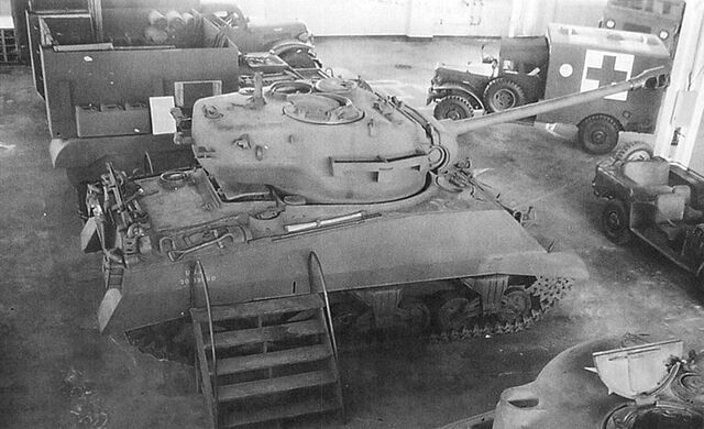 File:T26 turret on M4 chassis.jpg