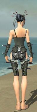 Necromancer Profane Armor F gray arms legs back