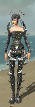 Necromancer Profane Armor F gray front