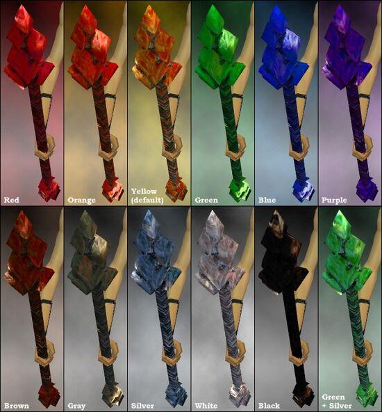 Crystal Flame Staff dye chart