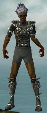 Necromancer Kurzick Armor M gray chest feet front