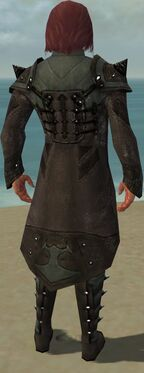 Mesmer Obsidian Armor M gray chest feet back