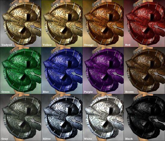 Crude Shield dye chart