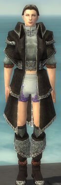 Elementalist Ancient Armor M gray chest feet front