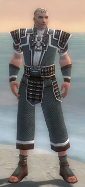 Monk Elite Judge Armor M gray front