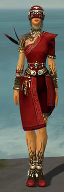Ritualist Canthan Armor F dyed front