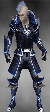 Necromancer Deldrimor Armor M dyed front